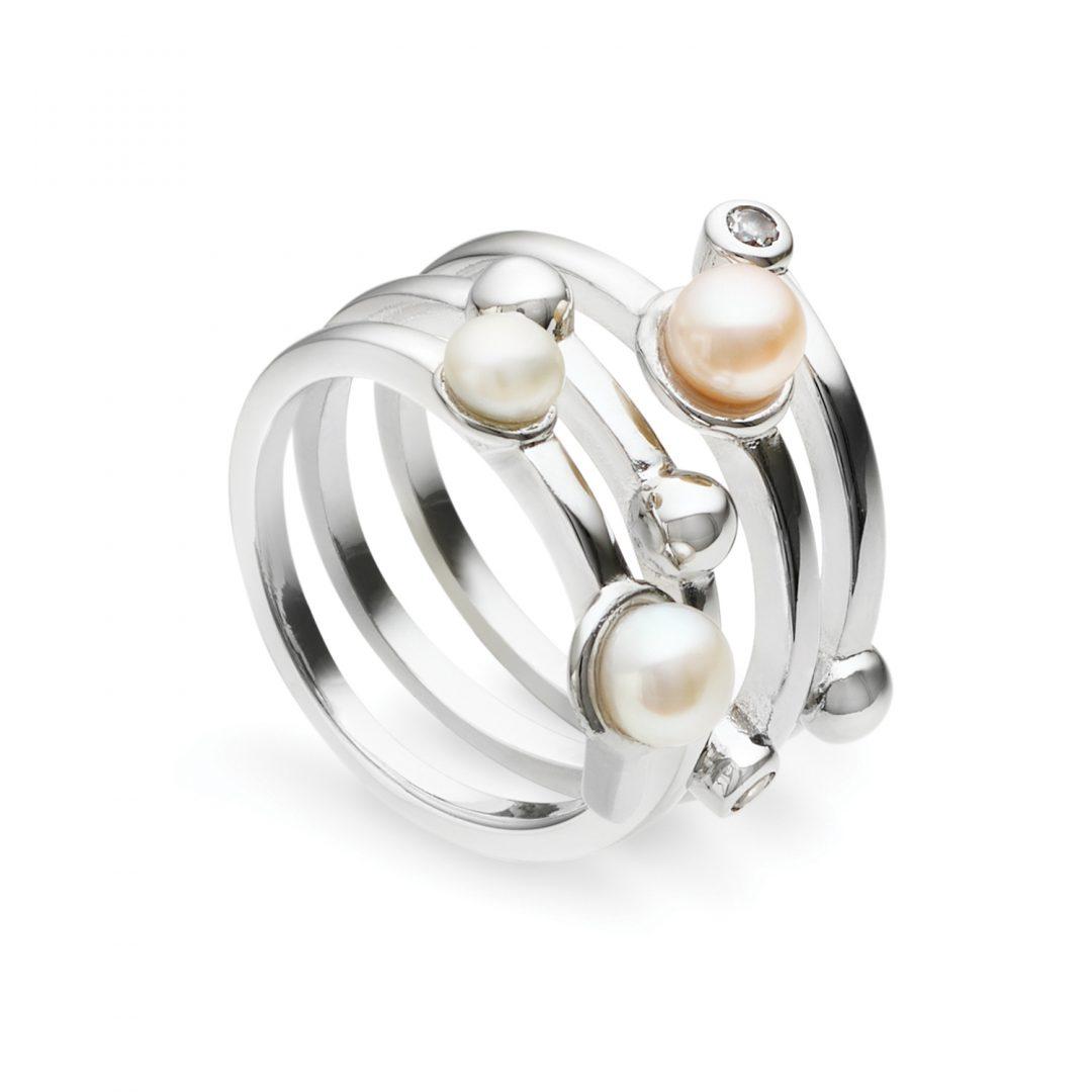 Peach Pearl Ring