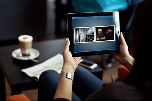 Digital brochure being used on an iPad