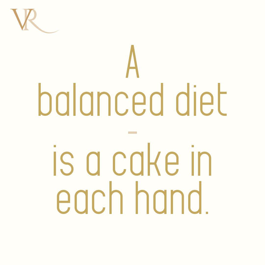Vanilla Rooms Social Media post – balanced diet