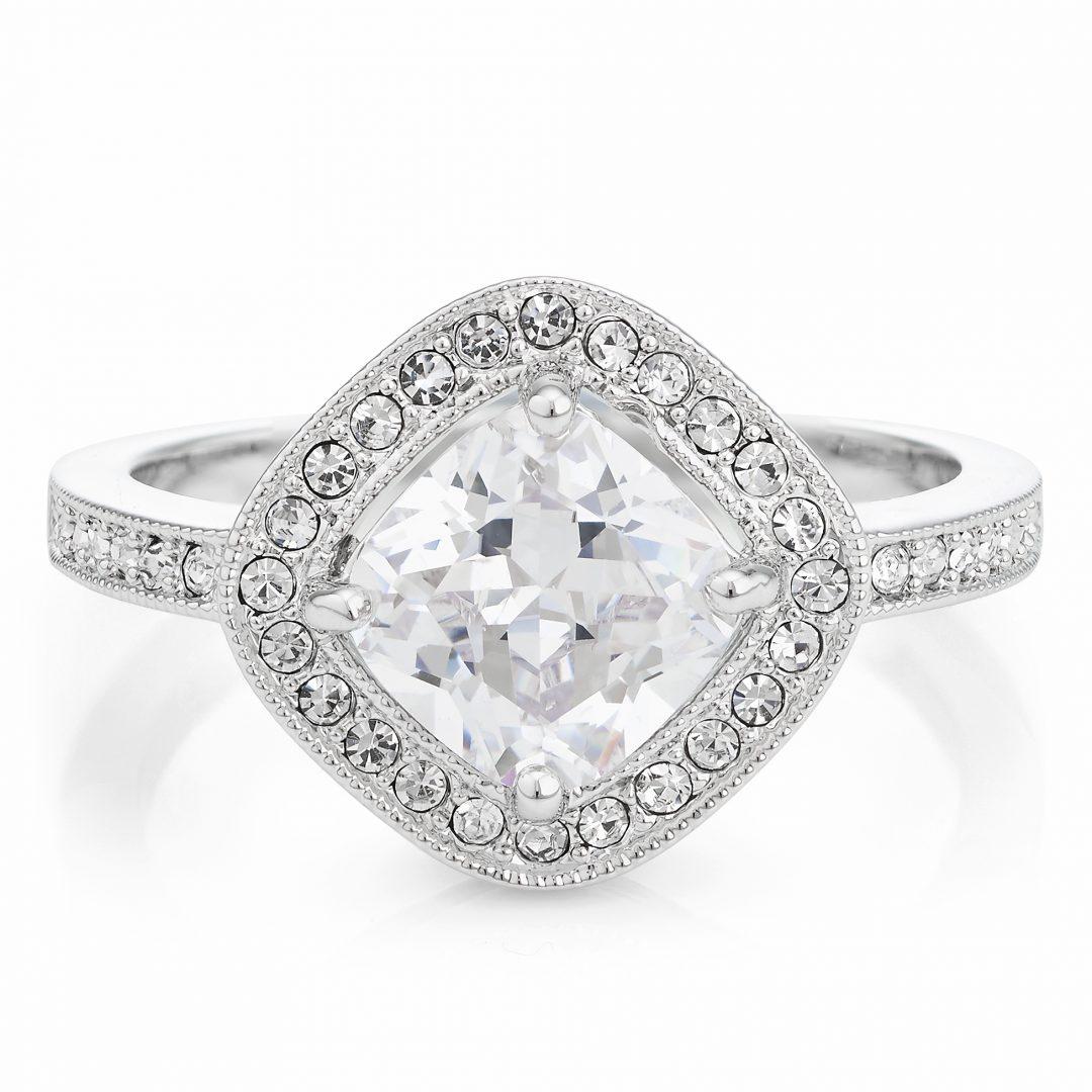 Buckley London Silver Diamond Ring
